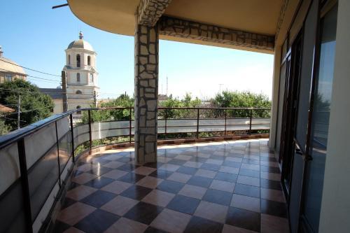 Un balcon sau o terasă la Pensiunea Anastasia