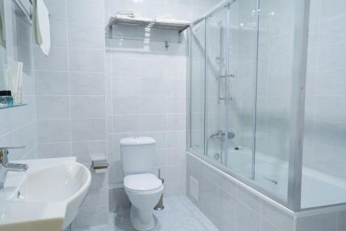A bathroom at Boutique Hotel Stolitsa