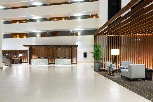 The lobby or reception area at Hyatt Regency Bethesda near Washington D.C.