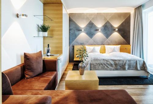 Ein Bett oder Betten in einem Zimmer der Unterkunft Seevital Hotel
