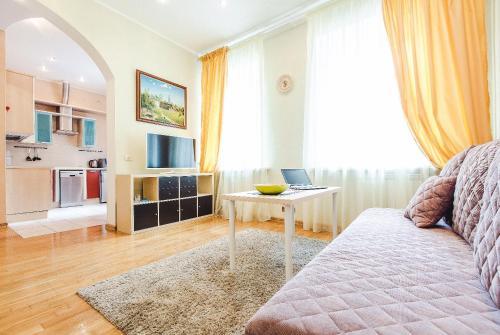 Гостиная зона в Miracle Apartments Арбатская