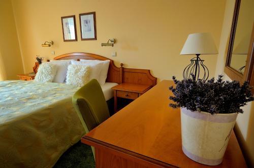 Ein Bett oder Betten in einem Zimmer der Unterkunft Penzion Tematin
