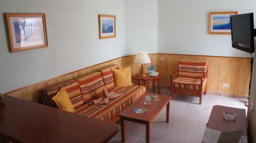 A seating area at Castillo Playa