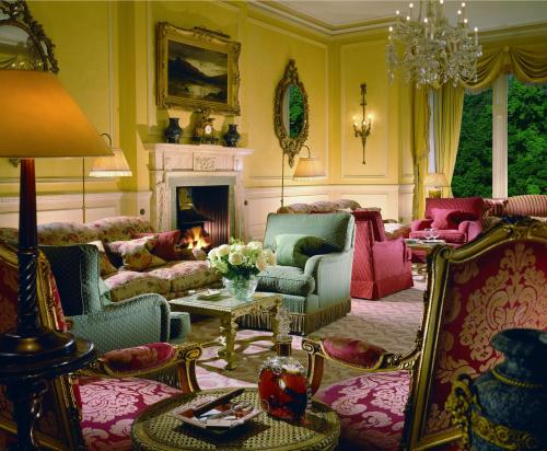 A seating area at Inverlochy Castle Hotel