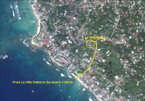 A bird's-eye view of Villa Vidisa
