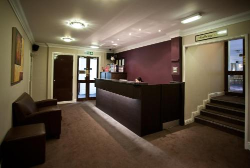 The lobby or reception area at The Angel View Hotel