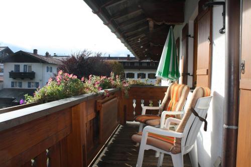Ein Balkon oder eine Terrasse in der Unterkunft Haus Alpenlicht