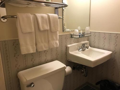A bathroom at Shelikof Lodge