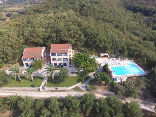 Άποψη από ψηλά του Natural Blue Green Apartment