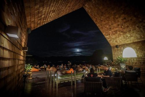A restaurant or other place to eat at 180 Sanctuary at Puripai Villa