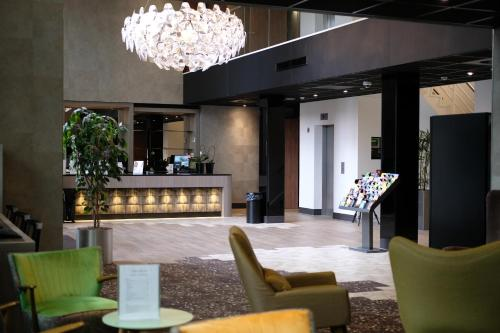 The lobby or reception area at Hotel Levell