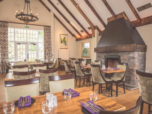 A restaurant or other place to eat at Ballygally Castle