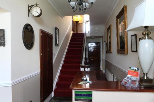 The lobby or reception area at The Keepers Arms