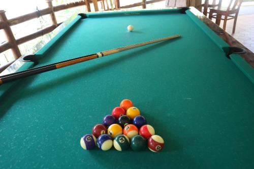 A pool table at The Garden House Phu Quoc