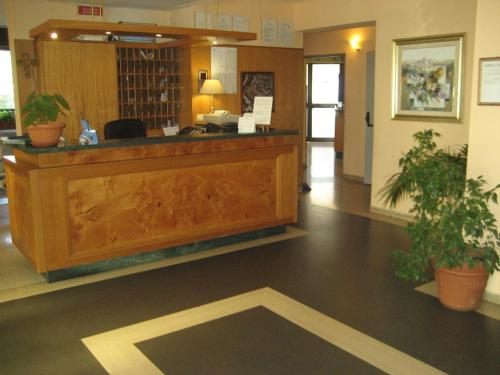 The lobby or reception area at Campus Hotel
