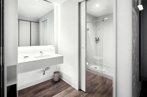 A bathroom at Universal's Aventura Hotel