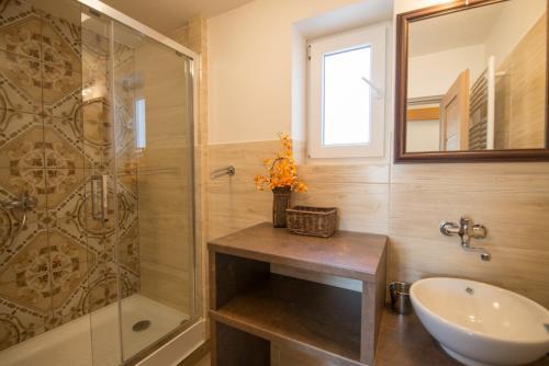 Kúpeľňa v ubytovaní Apartmány Lea