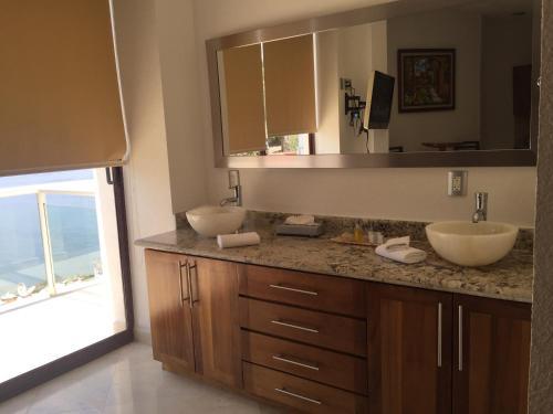 A bathroom at Mondavi