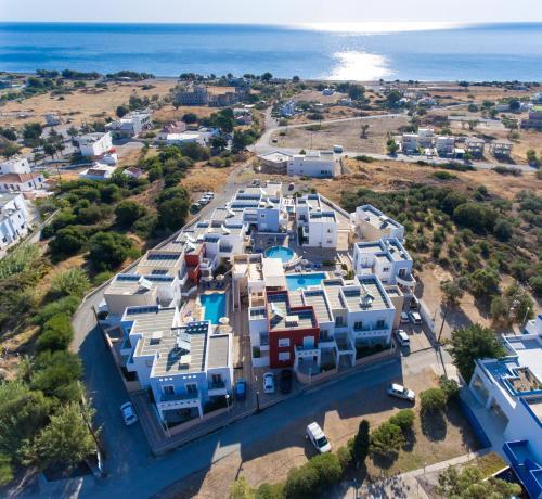 Ett flygfoto av Gennadi Gardens Apartments & Villas
