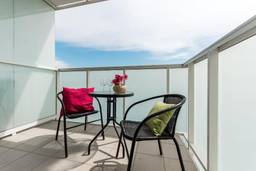 Balkon lub taras w obiekcie P&O Apartments Ordona 2