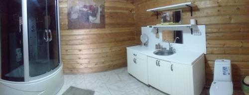 Кухня или мини-кухня в Отель Березка