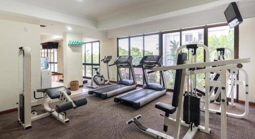 Het fitnesscentrum en/of fitnessfaciliteiten van Bayview Hotel Georgetown Penang