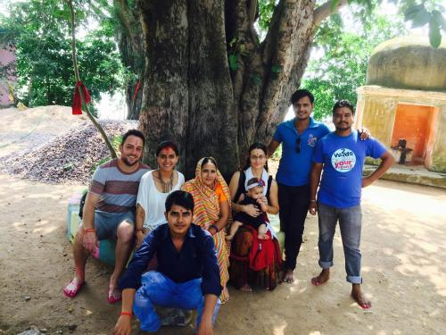 A family staying at Friends in Khajuraho