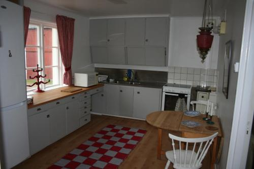Ett kök eller pentry på Fagerlid Gård