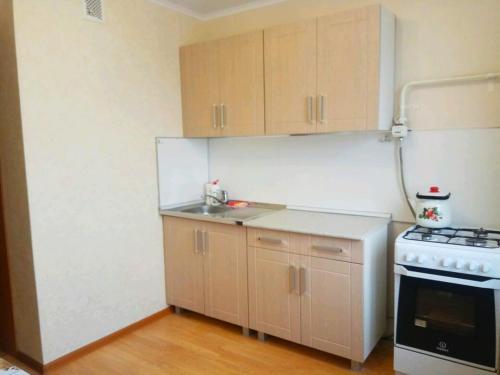 Кухня или мини-кухня в Apartment on Zavenyagina 4