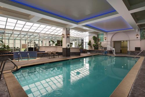 The swimming pool at or near Embassy Suites San Francisco Airport - Waterfront