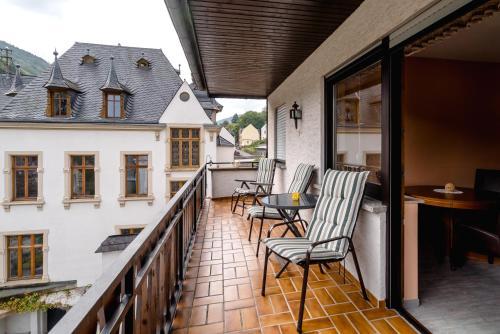 Een balkon of terras bij Ferienweingut Göbel