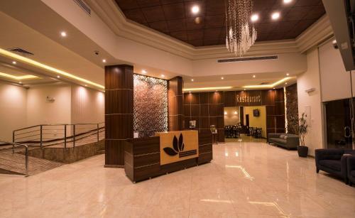 O saguão ou recepção de Lily Hotel Suite Mubarraz