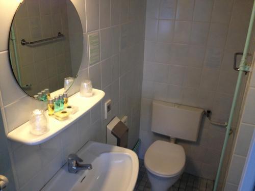 Een badkamer bij Amadeus Hotel