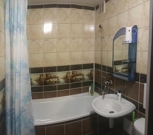 Ванная комната в Апартаменты на Завенягина 2