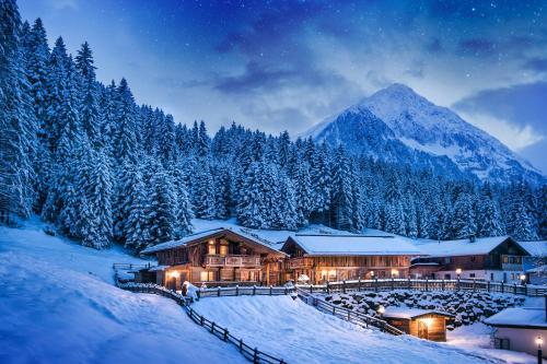 Gletscher-Chalet Stubai im Winter