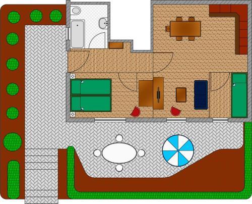 Grundriss der Unterkunft Ferienwohnung Dominika***