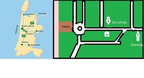 Plan de l'établissement Appartementen Bergen aan Zee de Schelp