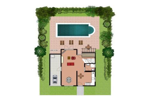 The floor plan of Villa Eufrosini