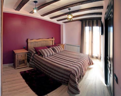 Cama o camas de una habitación en Casa El Maguillo Jalón