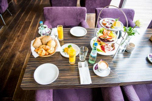 Breakfast options available to guests at Hotel Rosenmeer