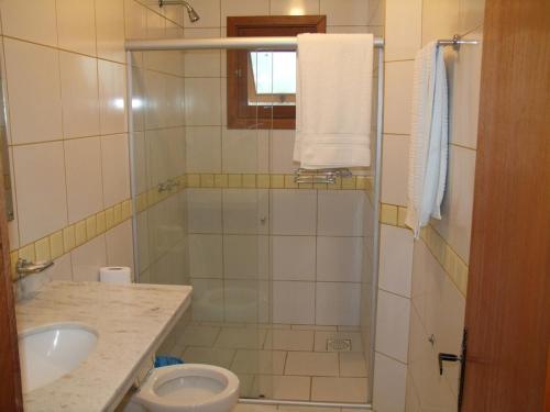 Um banheiro em Hotel Spazio
