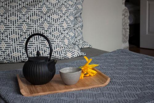 Cama ou camas em um quarto em Casa do Juncal