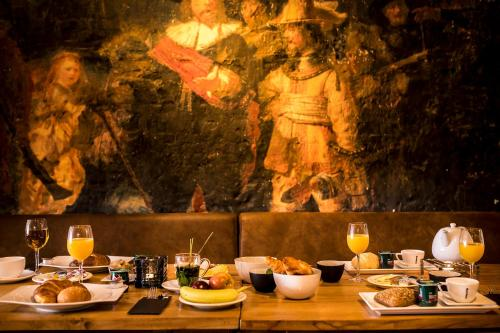 Breakfast options available to guests at City Hotel Rembrandt