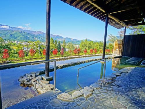 The swimming pool at or near Hakuba Highland Hotel