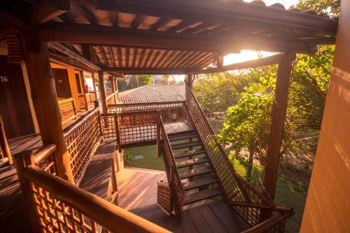 A balcony or terrace at Pousada Villa Maeva Itacimirim