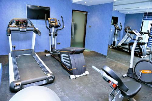The fitness center and/or fitness facilities at The Raintree Dhaka