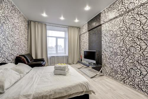 Телевизор и/или развлекательный центр в Apartment Tverskaya-Yamskaya 26