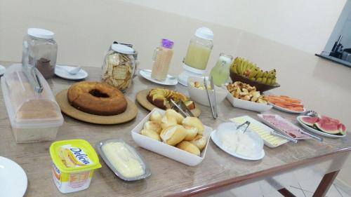 Breakfast options available to guests at Hotel Potencial