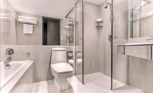 A bathroom at M Hotel Singapore