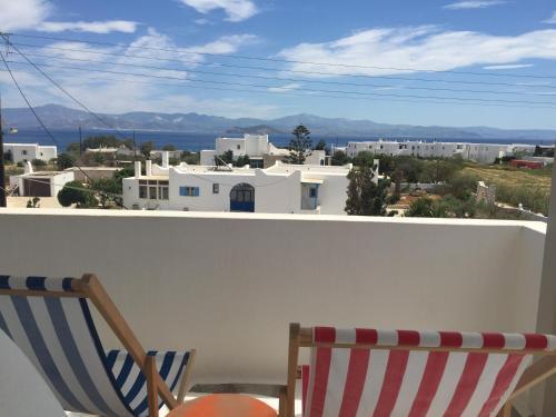 A balcony or terrace at Margarita Studios Ambelas